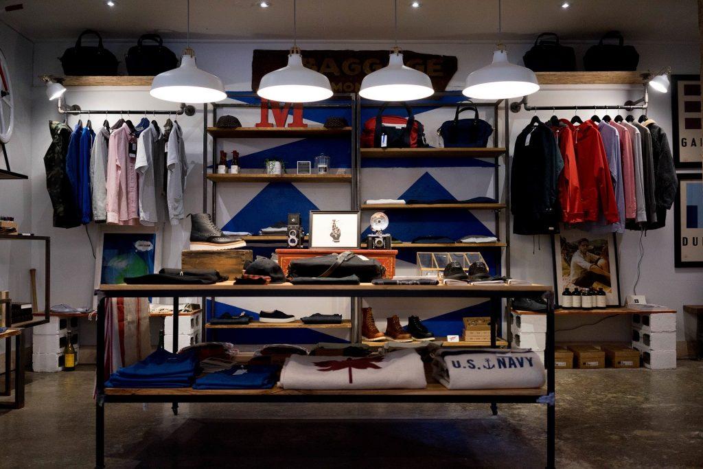 Loja de roupas.