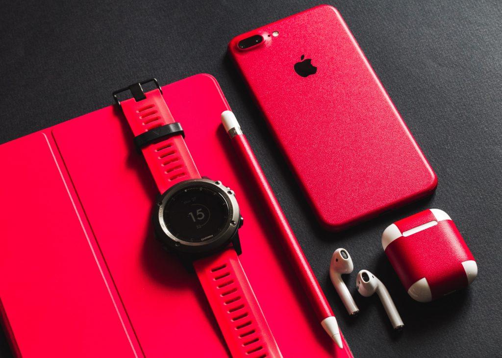 Relógio Garmin vermelho