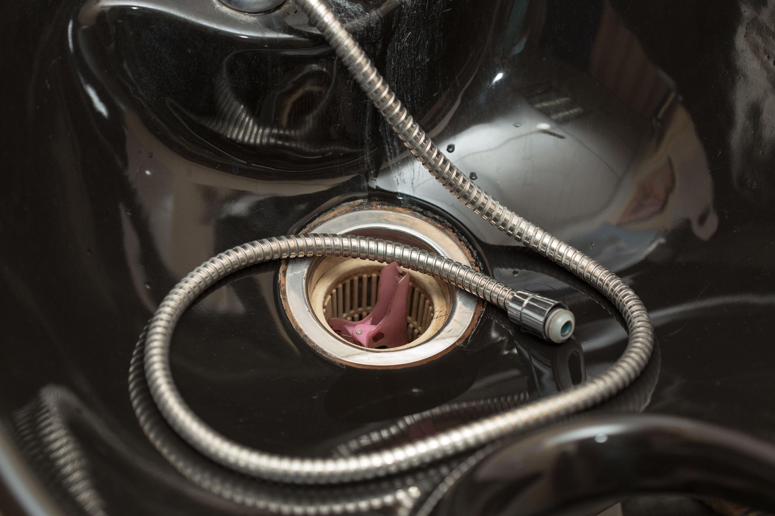 Imagem de lavatório portátil preto