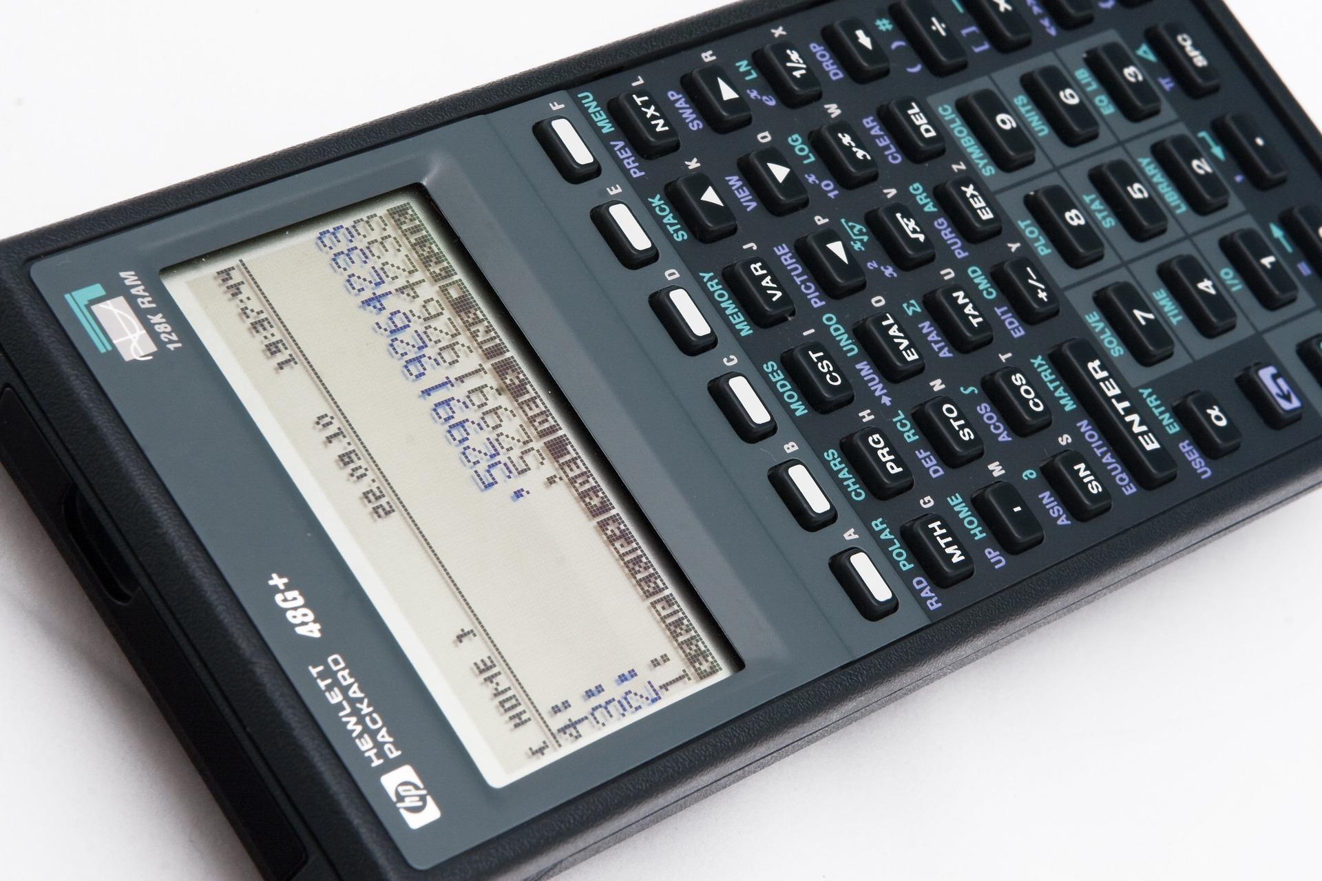 Imagem aproximada de calculadora financeira HP