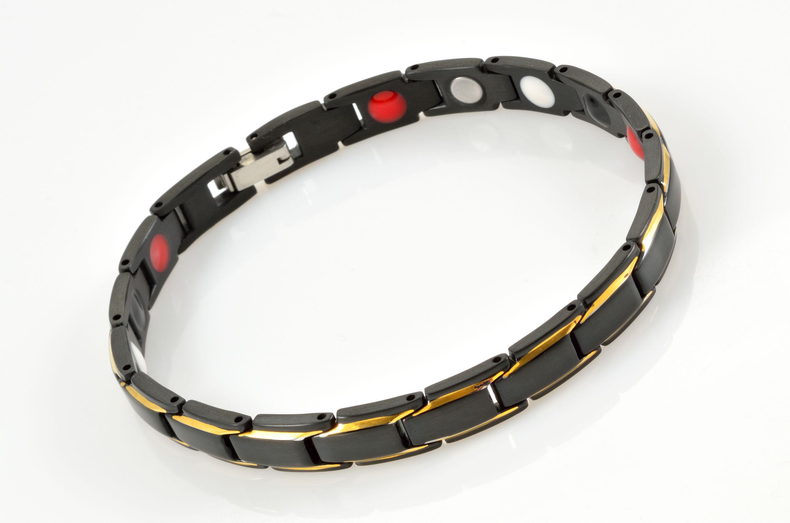 Imagem de uma pulseira magnética.