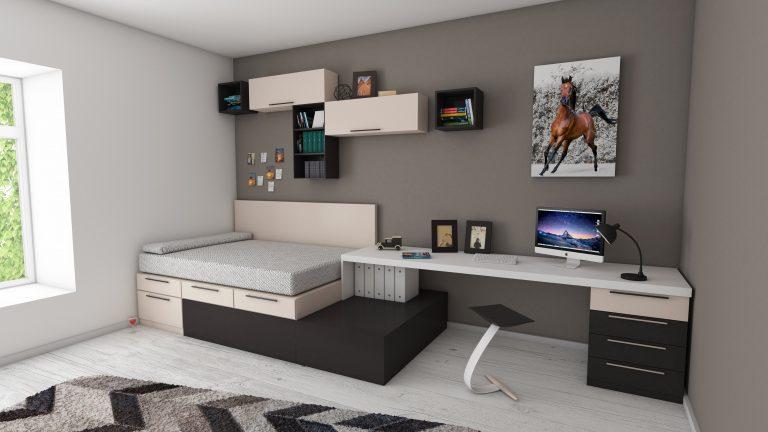 Imagem de um quarto infantil com decoração minimalista.