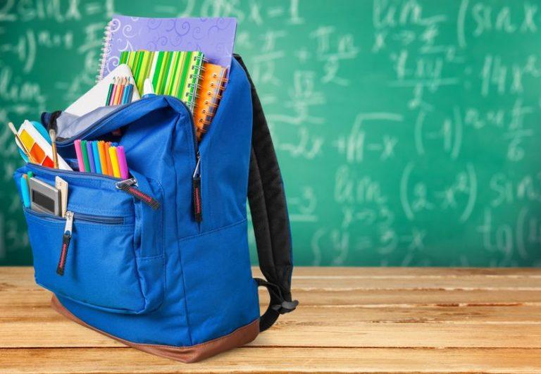 Imagem de uma mochila escolar.