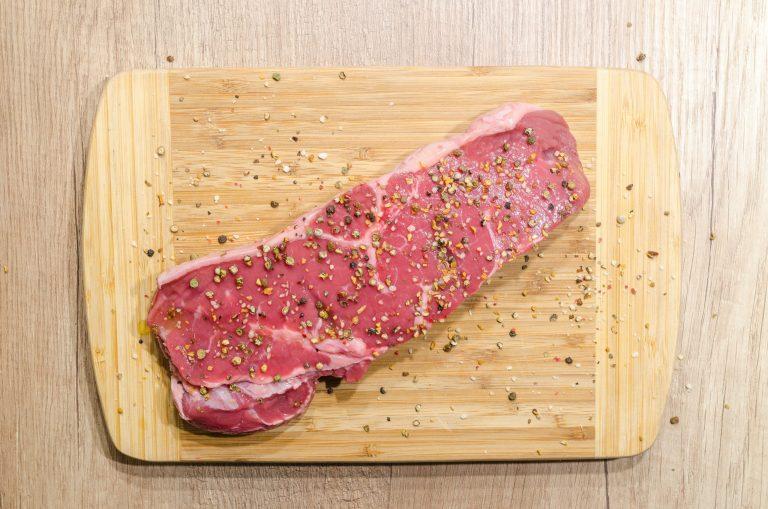 Imagem de um filé de carne bovina.