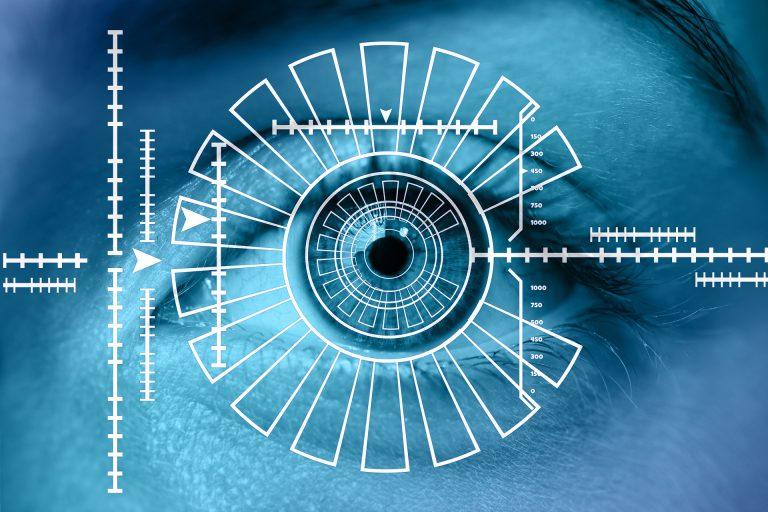 Imagem de um sistema de reconhecimento facial.