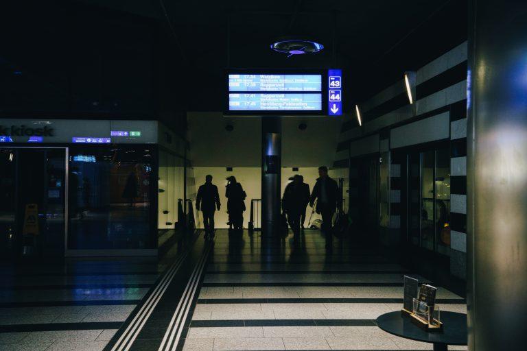 Aeroporto sem energia elétrica.