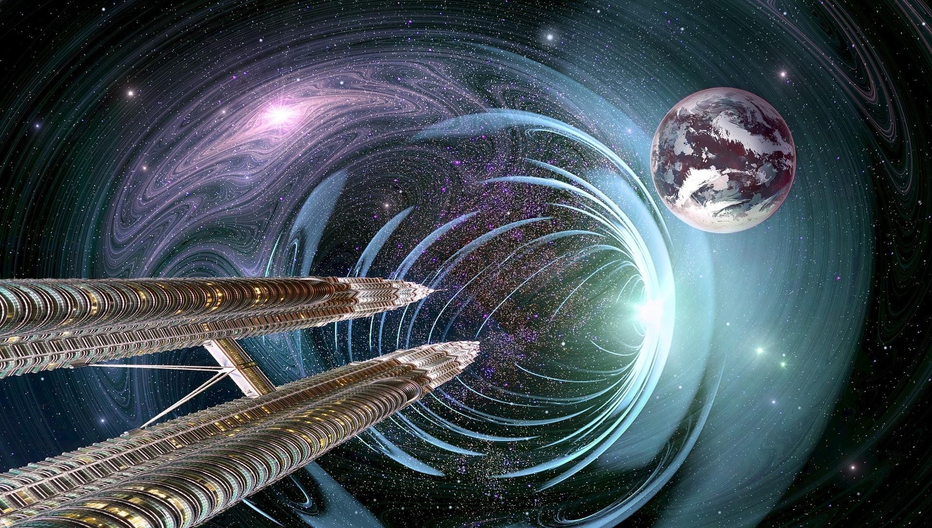 Ilustração do universo.