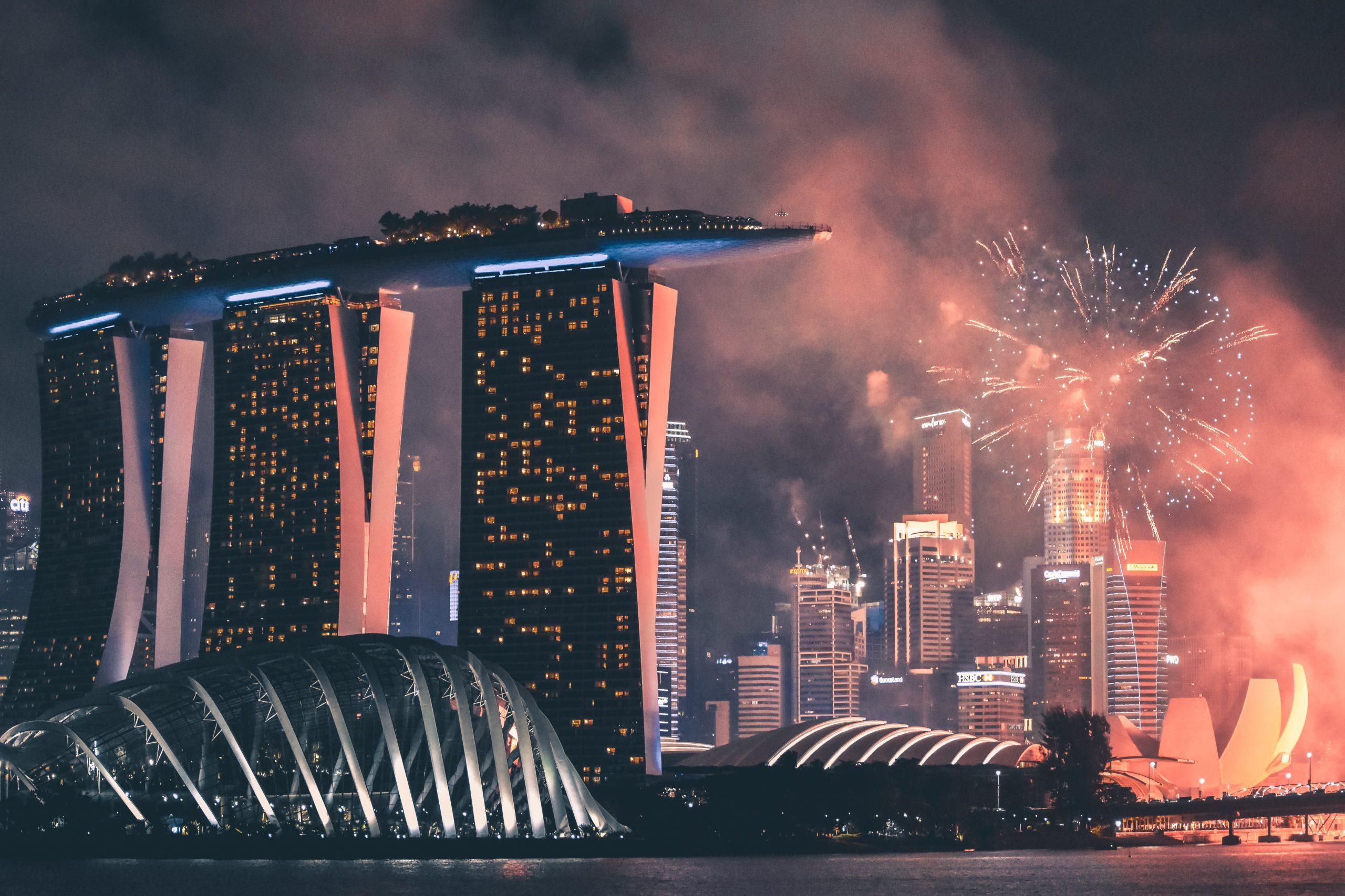 Imagem de um cenário futurista.