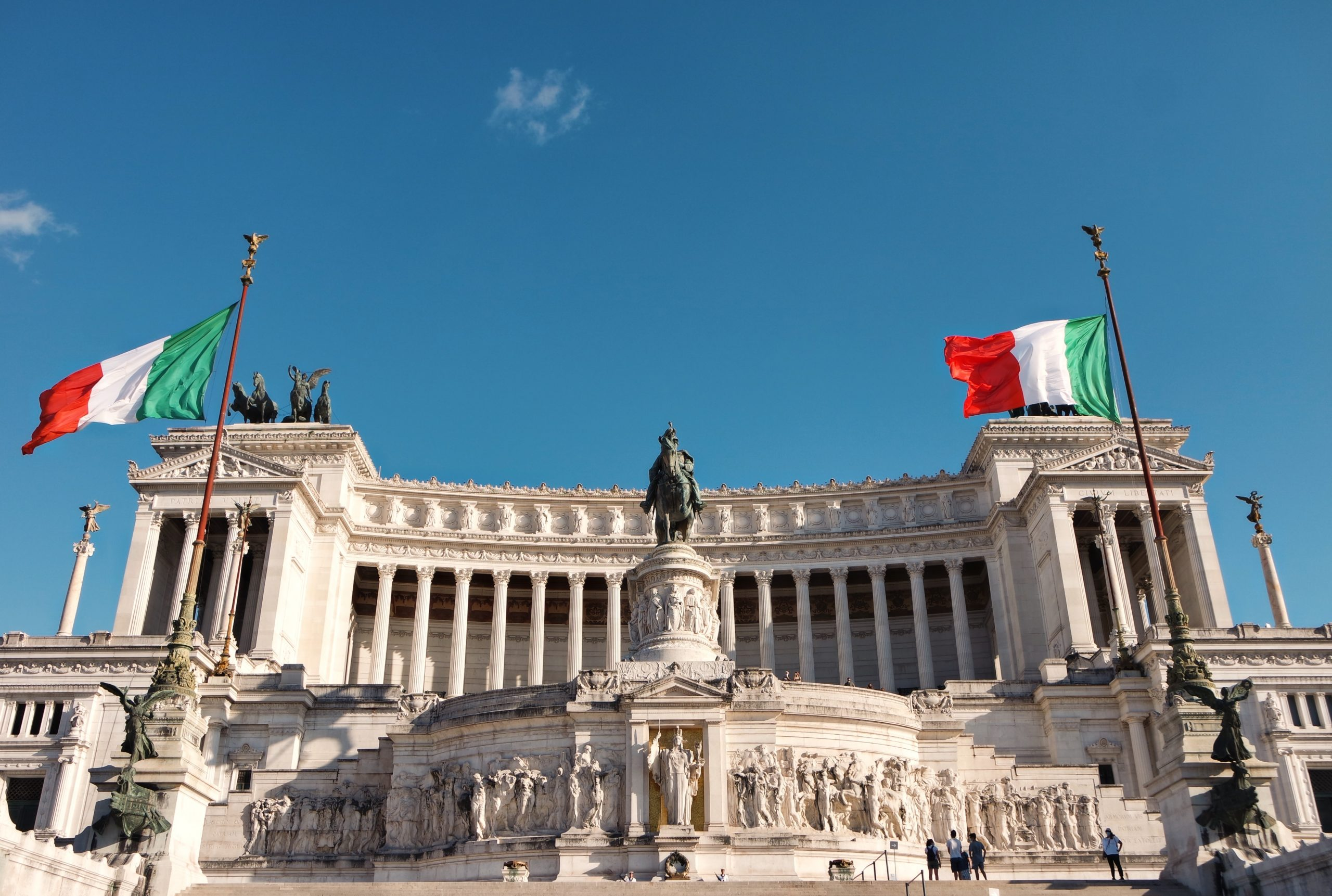 Piazza Venezia em Roma, na Itália.