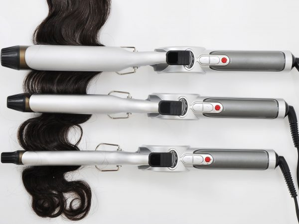 14683484 – hair curling iron with hair extension