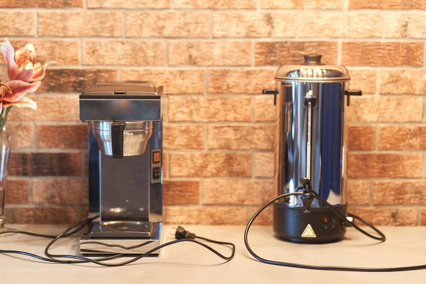 cafeteira industrial em bancada