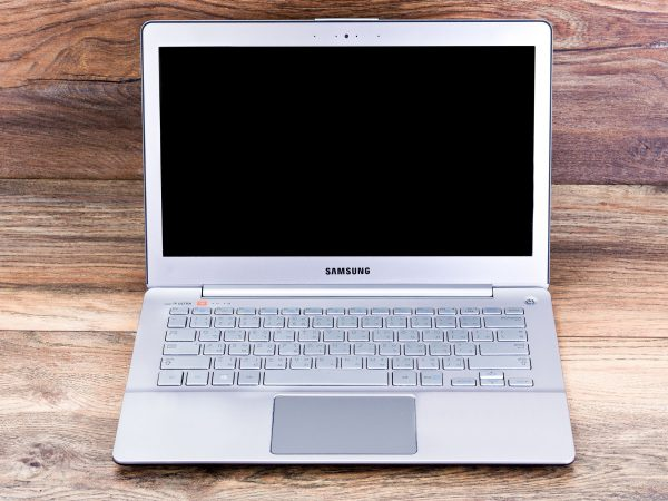 Minsk, Belarus – April 16, 2016: Notebook Samsung Series 7 Ultra. OS Windows 8.1, 10. Samsung Group founded in 1938 Lee Byung-chull. The company is headquartered in Seoul (Republic of Korea).