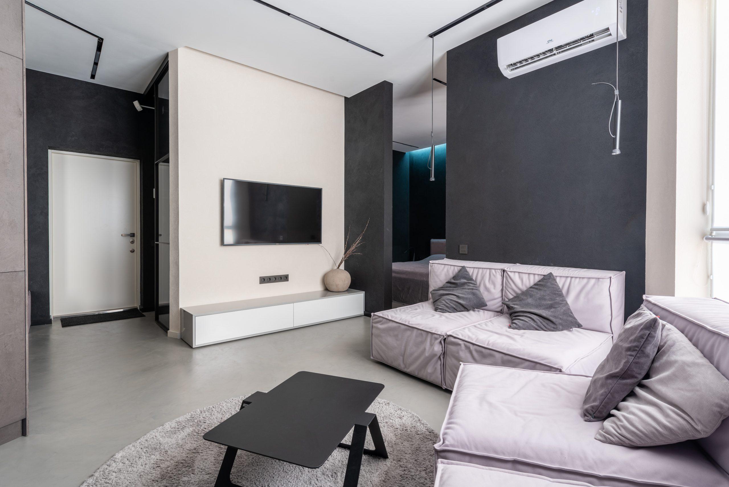 Sala para assistir televisão de uma casa