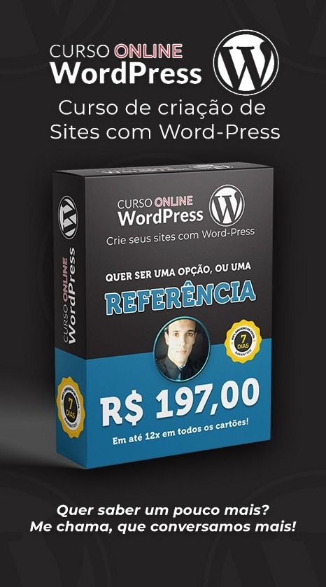 WordPress - Criar Sites profissionais sem programar