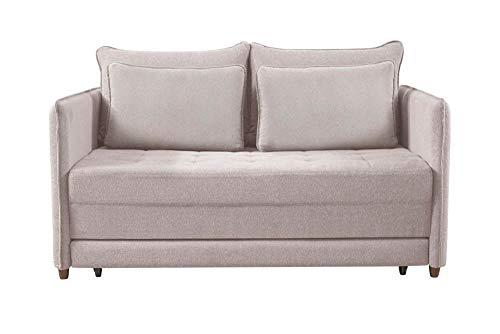 Sofá-cama de 2 Lugares Inhotim Cru 153cm