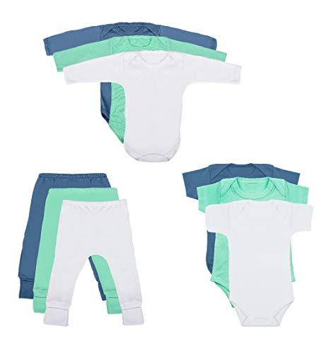 Body Bebê e Calça Mijão Kit 9 Peças Masculino (Recém-nascido)