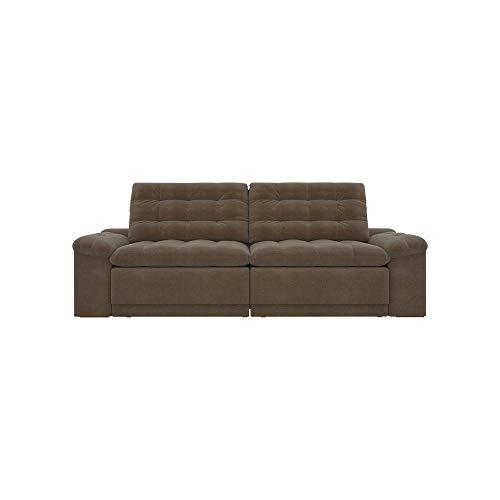 Sofá 4 Lugares Assento Retrátil e Reclinável Confort-legacy Sofas - Marrom
