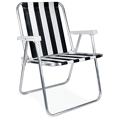 Cadeira Alta Mor, Alumínio, Cores Sortidas - 002101