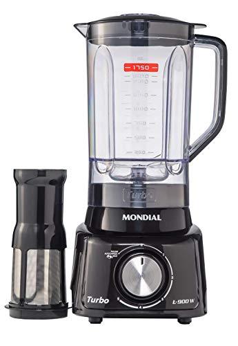 Liquidificador Mondial, Turbo L-900W, 127V, Preto, 2,7L - L-99-FB