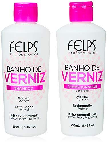 Banho de Verniz Kit Duo Home Care 2X250 ml, Felps, 500ml