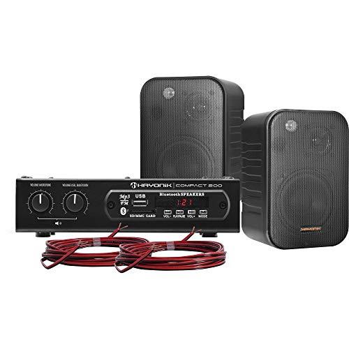 Kit de Som Ambiente 200W Musical, Hayonik, Ambience 2000, Bluetooth, 20 W, Preto