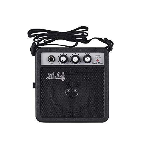 KKmoon Muslady 5W Mini Amplificador de guitarra Amp alto-falante com entradas de 3,5 mm e 6,35 mm Saída de 1/4