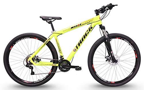 Bicicleta Aro 29 TKS 29 Verde Neon 21v Alumínio Shimano Suspensão Dianteira, Track Bikes