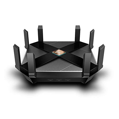 Roteador TP-Link AX6000 WiFi 6, Roteador WiFi Smart 8-Stream (Archer AX6000) - Roteador sem fio 802.11ax Next-Gen, porta WAN 2,5 G, portas LAN 8 Gigabit, MU-MIMO, CPU Quad-Core 1,8 GHz, USB 3.0