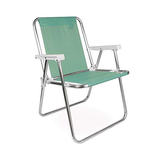 Mor 002278 - Cadeira Alta Alumínio, Verde (Anis)