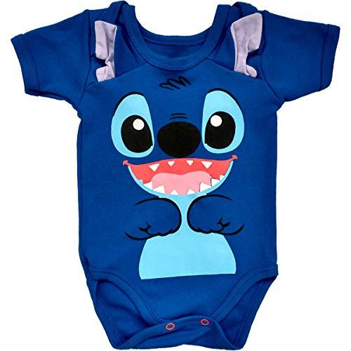 Body Bebe Estampas Divertidas Body Infantil Menino Menina Cor:Azul;Tamanho:G