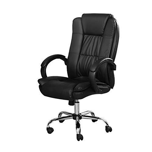 Cadeira Presidente almofadada para escritório Preta - LMS-BY-8-661