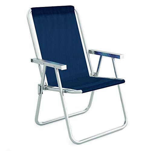 Cadeira Alta Conforto Alumínio Sannet Azul Mor