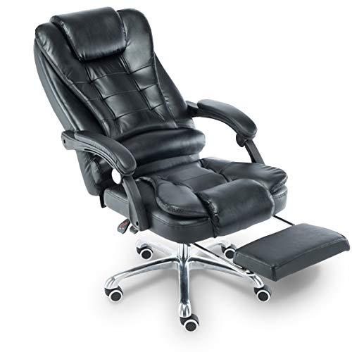 Cadeira para Escritório Giratória com apoio para os pés - Preta - LMS-BY-8436-T3 - Preta