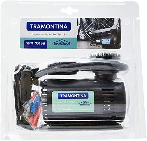 Tramontina - Compressor Ar Portatil 12V, Potencia 50W, Pressao Maxima 300 Psi, Vazao 8 Litros/Minuto