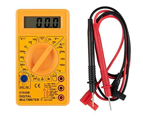 Multímetro digital EDA 8PJ, Amarelo