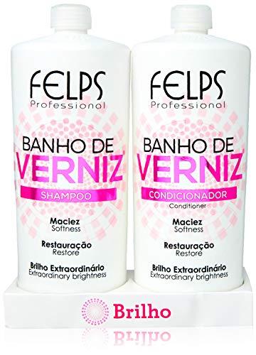 Banho de Verniz Kit Duo (Plastificado) 2X1L, Felps, 2000ml