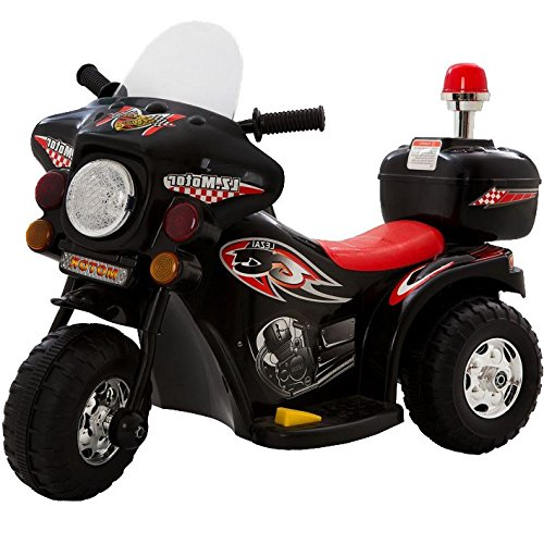 Mini Moto Elétrica Infantil Triciclo Elétrico BZ Cycle Preto com Músicas e Luzes BARZI MOTORS