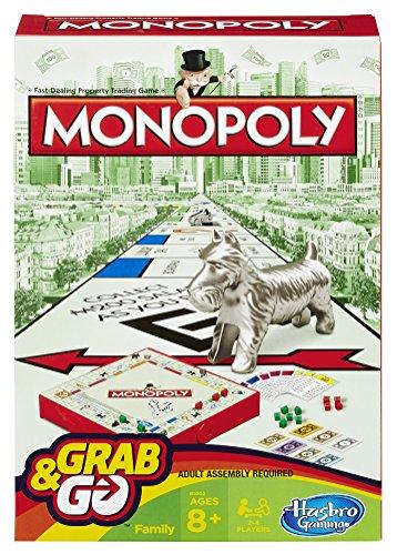 Hasbro Gaming Jogo Gaming Monopoly Grab & Go Verde/Vermelho