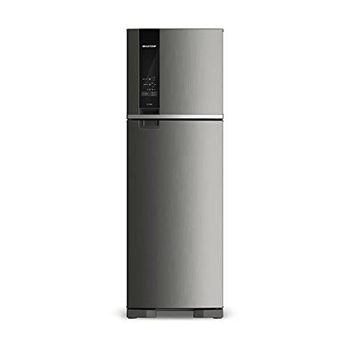 Geladeira Brastemp Frost Free Duplex 400 litros cor Inox com Freeze Control - BRM54HK 110V