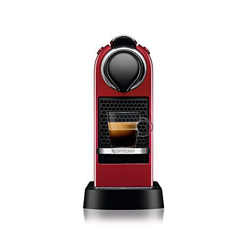 Nespresso CitiZ Cafeteira 220V, máquina de café Espresso em casa, cápsula / cápsula elétrica automática (vermelho cereja)