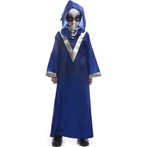 Fantasia de Halloween Infantil Et Alienígena Extra Terrestre Azul Com Gorro G 9-10