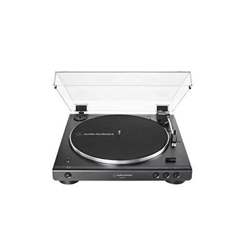 Toca-Discos Audio-Technica Sem Fio com acionamento automático por correia (Belt-Drive) AT-LP60XBT-BK, Preto