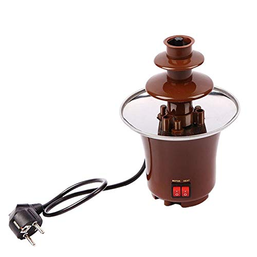 Máquina Chocolate Fondue Elétrica Mini Chocolate Fondue Fountain Heating Electric Machine BD-017
