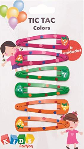 Tic Tac Colors com 6 unidades Kids Fashion, 4,5 cm, 8100, Marco Boni, Cores Sortidas