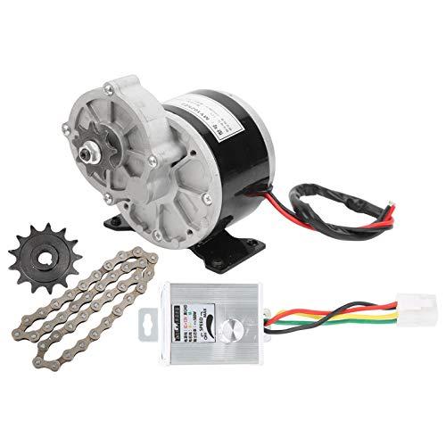 Kit de motor elétrico de bicicleta, kit de conversão de bicicleta elétrica de alta velocidade 12V 250W CC com controlador de velocidade, roda dentada de 13 dentes, corrente de 38 seções kit de motor elétrico para bicicleta eletrônica, motocicleta elétrica