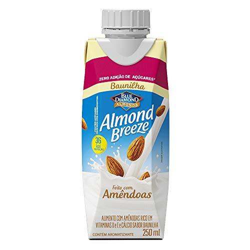 Alimento com Amêndoas Sabor Baunilha Zero Açúcar Almond Breeze 250ml