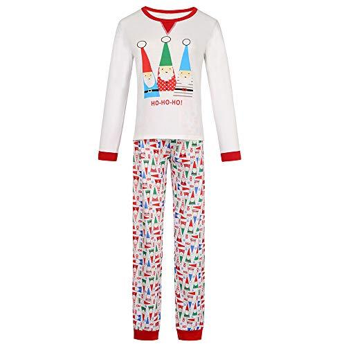 Pijamas de Natal para a família combinando para meninos e meninas Deer Pijama infantil para bebês Roupas de dormir Pijama feminino para família Conjuntos de pijamas de Natal para a família (branco, Mama-P)