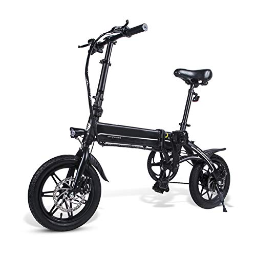 Bicicleta dobrável, bicicleta elétrica, bicicleta dobrável de alumínio com visor LCD, bicicleta elétrica portátil, bicicleta elétrica, preta