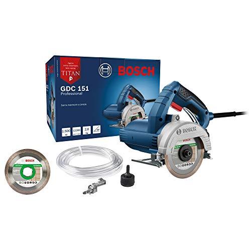 Serra Mármore Bosch GDC 151 TITAN 1500W 127V com 1 disco e 1 kit refrigeração