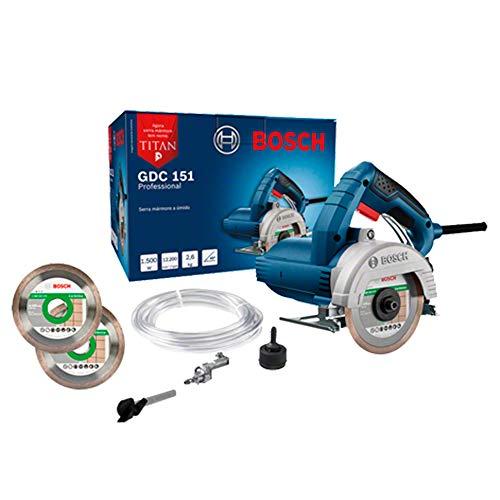 Serra Mármore Bosch GDC 151 TITAN 1500W 220V com 2 discos e 1 kit refrigeração